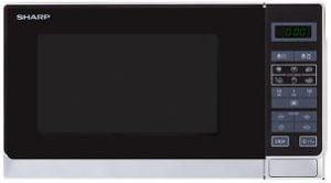 Sharp-R-242WWs mikrovågsugn i svart utförande