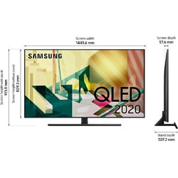 Samsung-QLED-QE65Q70Txsize